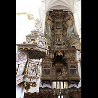 Rostock, St. Marien (Turmorgel), Barocke Kanzel und große Orgel