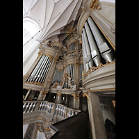 Rostock, St. Marien (Turmorgel), Blick von der Orgelempore hinauf zur Orgel