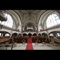 Rostock, Heiligen-Geist-Kirche, Innenraum in Richtung Orgel
