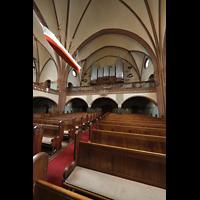 Rostock, Heiligen-Geist-Kirche, orgelempore mit Kirchenschiff