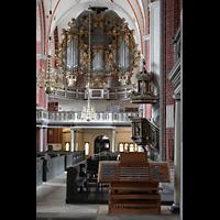 Brandenburg, St. Katharinen (Hauptorgelanlage), Mobilder Spieltisch und hauptorgel