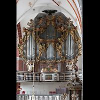 Brandenburg, St. Katharinen (Hauptorgelanlage), Ahuptorgel vom Solowerk aus gesehen
