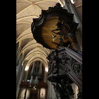 Venlo, Sint Martinus Basiliek, Kanzel und Orgel