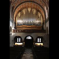 Düsseldorf - Oberkassel, St. Antonius, Orgelempore beleuchtet