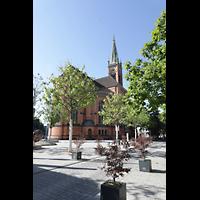 Düsseldorf, Johanneskirche, Außenansicht von Norden