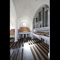 Düsseldorf, Johanneskirche, Orgel von der Seitenempore aus gesehen