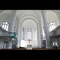 Düsseldorf, Johanneskirche, Innenraum in Richtung Chor