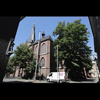Düsseldorf, Basilika St. Lambertus, Außenansicht von Südosten