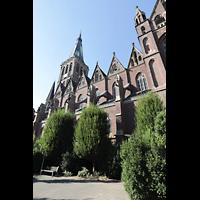 Viersen - Dülken, St. Cornelius und Peter (Hauptorgel), Seitliche Außenansicht von Süden (Moselstraße)
