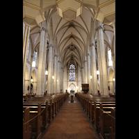 Viersen - Dülken, St. Cornelius und Peter (Hauptorgel), Innenraum in Richtung Chor