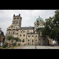 Neuss, Münster St. Quirin(us), Ansicht vom Freihof im Süden