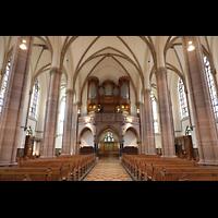Willich, Pfarrkirche St. Katharina, Innenraum in Richtung Orgel