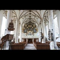 Merseburg, Dom St. Johannes und St. Laurentius, Innenraum in Richtung Orgel