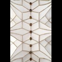 Merseburg, Dom St. Johannes und St. Laurentius, Gewölbe mit Wappen von Bischöfen und Fürsten als Schlusssteine