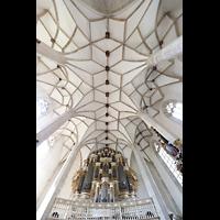 Merseburg, Dom St. Johannes und St. Laurentius, Blick ins Gewölbe mit Orgel