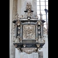 Merseburg, Dom St. Johannes und St. Laurentius, Epitaph (Alabasterrelief) des Propstes Jan von Kostiz (1611)