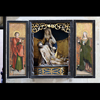 Merseburg, Dom St. Johannes und St. Laurentius, Flügelaltar an der Vierungssäule zur Bischofskapelle (um 1520)