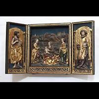 Merseburg, Dom St. Johannes und St. Laurentius, Flügelretabel mit Johannes d.T. (links) und dem Hl. Laurentius (um 1520)