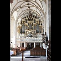 Merseburg, Dom St. Johannes und St. Laurentius, Seitlicher Blick vom Querhaus zur Orgel