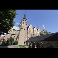Merseburg, Dom St. Johannes und St. Laurentius, Blick vom Domplatz von Südwesten auf den Dom