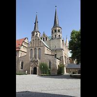 Merseburg, Dom St. Johannes und St. Laurentius, Westfassade mit Doppeltürmen