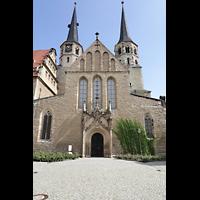 Merseburg, Dom St. Johannes und St. Laurentius, Westwand und Fassade des Doms