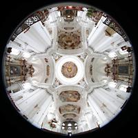 Weingarten, Basilika St. Martin - Chororgel, Gesamter Innenraum