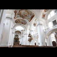 Weingarten, Basilika St. Martin - Chororgel, Innenraum seitlich