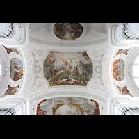 Weingarten, Basilika St. Martin - Chororgel, Deckengemälde im zweiten Joch