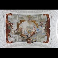 Weingarten, Basilika St. Martin - Chororgel, Deckengemälde im dritten Joch