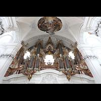 Weingarten, Basilika St. Martin - Chororgel, Große Gabler-Orgel perspektivisch