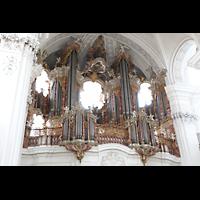 Weingarten, Basilika St. Martin - Chororgel, Hauptorgel seitlich