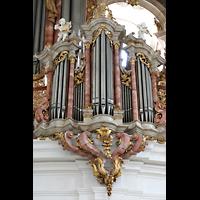 Weingarten, Basilika St. Martin - Chororgel, Linkes Brüstungspositiv