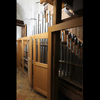 Weingarten, Basilika St. Martin - Chororgel, Pfeifen der Chororgel