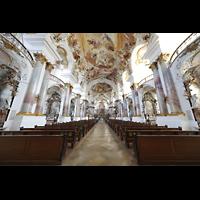 Zwiefalten, Münster Unserer Lieben Frau (Chororgel), Innenraum in Richtung Chor