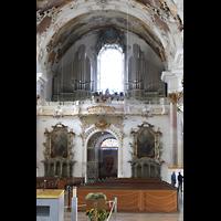 Zwiefalten, Münster Unserer Lieben Frau (Chororgel), Hauptorgelempore