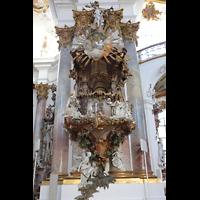 Zwiefalten, Münster Unserer Lieben Frau (Chororgel), Barocke Kanzel