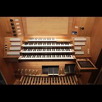 Basel, Stadtcasino, Musiksaal, Fester Spieltisch seitlich an der Orgel