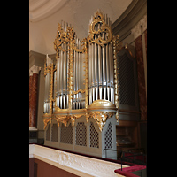 Basel, Stadtcasino, Musiksaal, Orgel mit seitlichem Spieltisch