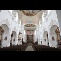 Arlesheim, ehem. Dom, Innenraum in Richtung Chor