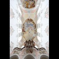Arlesheim, ehem. Dom, Blick ins Deckengewölbe mit Orgel