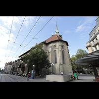 Lausanne, Saint-François (Spanische Orgel), Außenansicht vom Place Saint-François von Südosten