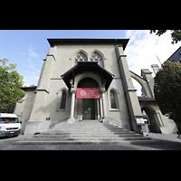 Lausanne, Saint-François (Spanische Orgel), Westfassade mit Hauptportal