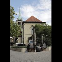 Lausanne, Saint-François (Spanische Orgel), Außenansicht vom Place Saint-François von Westen