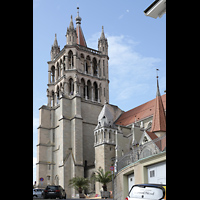 Lausanne, Cathédrale, Turm von Südosten
