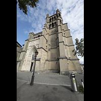 Lausanne, Cathédrale, Turm und Fassade von Westen
