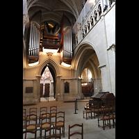 Lausanne, Cathédrale, Hauptorgel mit mobilem Spieltisch