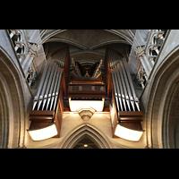 Lausanne, Cathédrale, Große Orgel von unten
