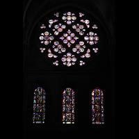 Lausanne, Cathédrale, Fensterrosette im südlichen Querhaus