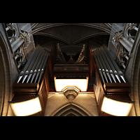 Lausanne, Cathédrale, Hauptorgel von unten